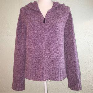 J. JILL Sz S Purple/Lilac Zip Up Sweater Hoodie